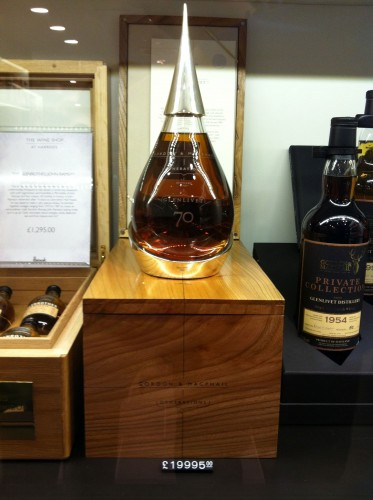 A $10000 pound bottle of scotch? I guess Harrods is an authority.